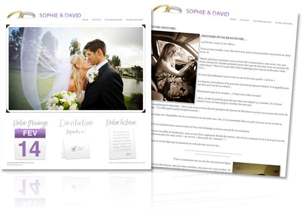 Votre blog de mariage personnalisé en ligne !